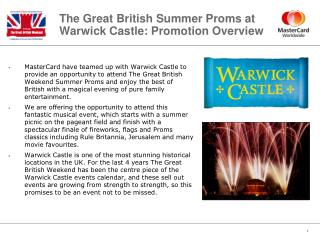 The Great British Summer Proms at Warwick Castle: Promotion Overview