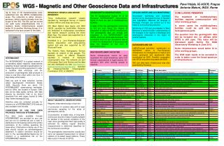 WG5 - Magnetic and Other Geoscience Data and Infrastructures