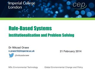 Rule-Based Systems Institutionalisation and Problem Solving