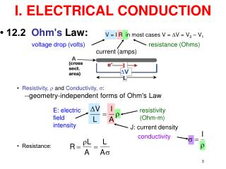 I. ELECTRICAL CONDUCTION