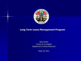 Long Term Leave Management Program
