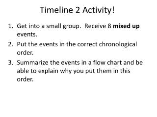 Timeline 2 Activity!