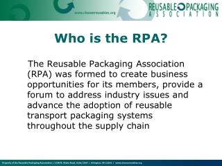 Who is the RPA?