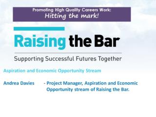 Aspiration and Economic Opportunity Stream led by Employer / Educator Solutions Group