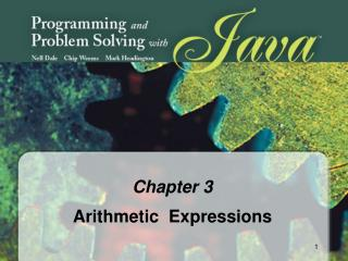 Chapter 3 Arithmetic  Expressions