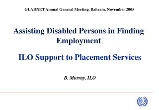 Assisting Disabled Persons in Finding Employment