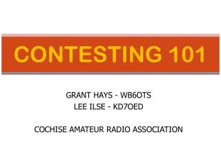 CONTESTING 101