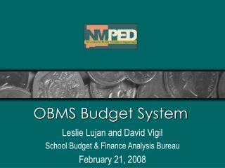 OBMS Budget System