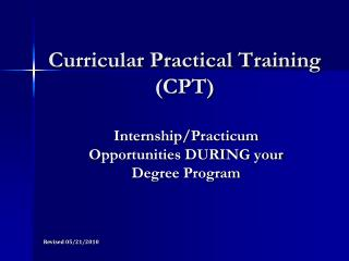 Curricular Practical Training (CPT)