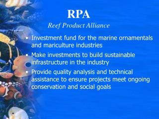 RPA Reef Product Alliance