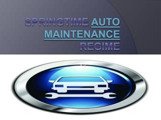 Springtime Auto Maintenance Regime