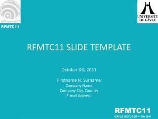 RFMTC11 SLIDE TEMPLATE
