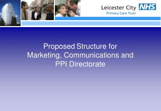 Proposed Structure for Marketing, Communications and PPI Directorate