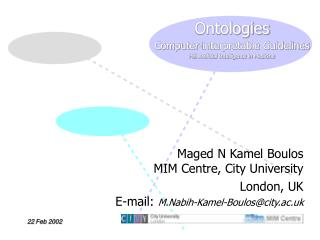 Ontologies Computer-interpretable Guidelines Hi6 Artificial Intelligence in Medicine