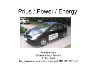 Prius / Power / Energy