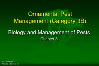 Ornamental Pest Management (Category 3B)