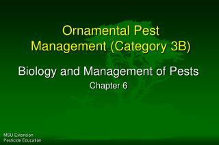 Ornamental Pest Management (Category 3B)