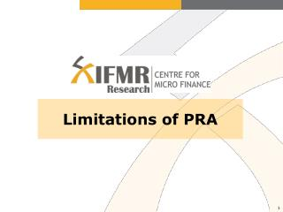 Limitations of PRA