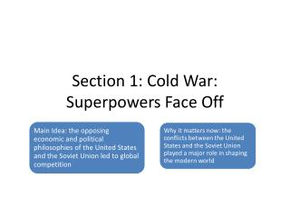 Section 1: Cold War: Superpowers Face Off