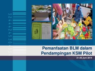 Pemanfaatan BLM dalam Pendampingan KSM Pilot