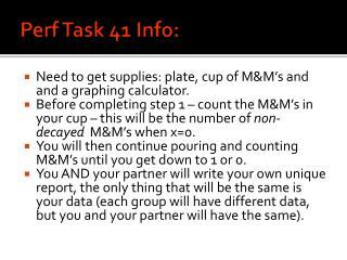 Perf  Task 41 Info: