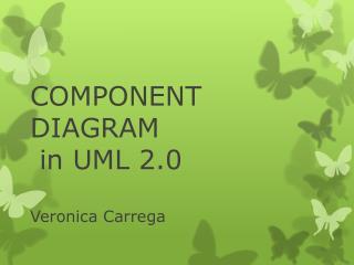 COMPONENT DIAGRAM  in UML 2.0 Veronica Carrega