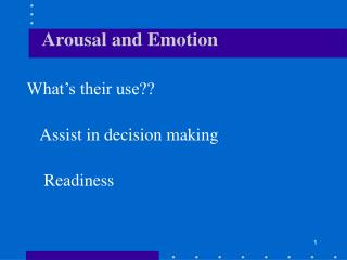 Arousal and Emotion