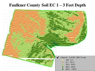 Faulkner County Soil EC 1 – 3 Feet Depth