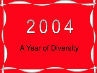 A Year of Diversity