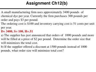 Assignment Ch12(b)