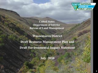 United States Department of Interior Bureau of Land Management