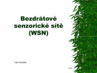 Bezdrátové senzorické sítě (WSN)