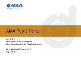 AIAA Public Policy