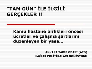 """""""TAM GÜN"""" İLE İLGİLİ GERÇEKLER !!"""