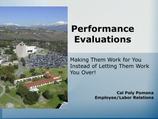 Performance Evaluations