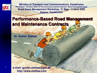Performance-Based Road Management and Maintenance Contracts