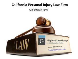 California Personal Injury Law Firm