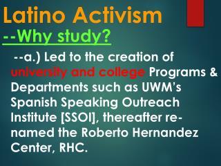 Latino Activism