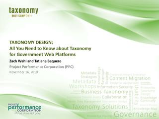 TAXONOMY DESIGN: All You Need to Know about Taxonomy for Government Web Platforms