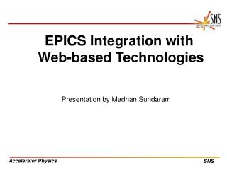 EPICS Integration with  Web-based Technologies
