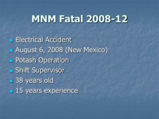 MNM Fatal 2008-12