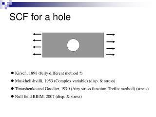 SCF for a hole