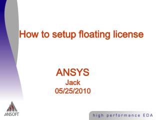 How to setup floating license