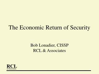 The Economic Return of Security