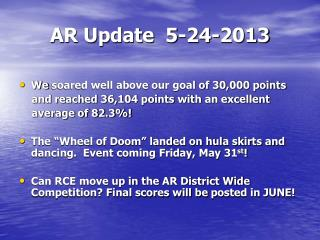 AR Update   5-24-2013