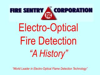 "Electro-Optical Fire Detection  ""A History"""