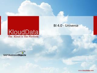 BI 4.0 - Universe