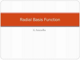Radial Basis Function