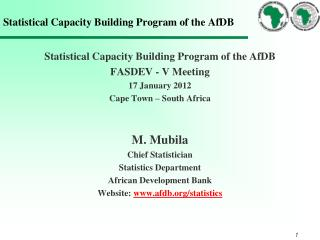 Statistical Capacity Building Program of the AfDB