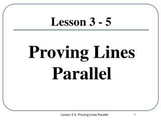 Lesson 3 - 5